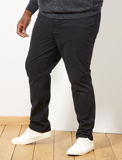 Pantalón cómodo de gabardina                                                                 negro Tallas grandes hombre