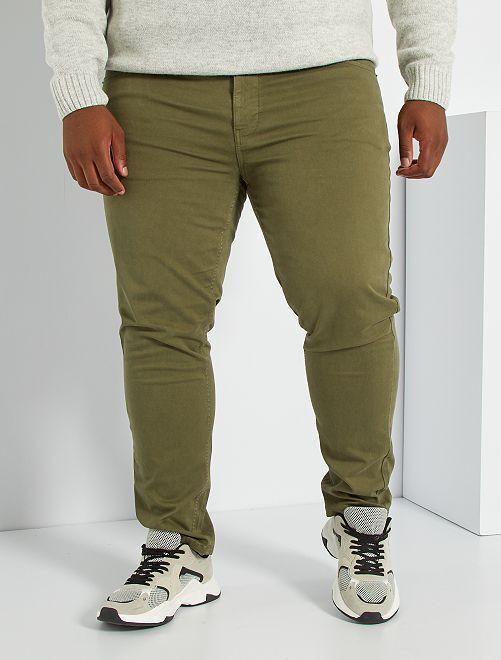 Pantalón con 5 bolsillos fitted L34                                                                             KAKI
