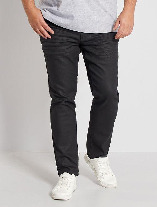 Pantalón con 5 bolsillos fitted                             NEGRO