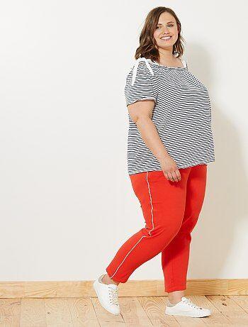 Pantalón con bandas laterales - Kiabi