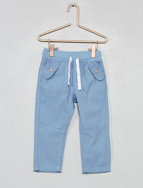 Pantalón con bolsillos abotonados                                                                             azul denim Bebé niño