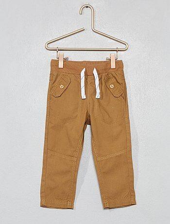 e8d3b624d Niño 0-36 meses - Pantalón con bolsillos abotonados - Kiabi
