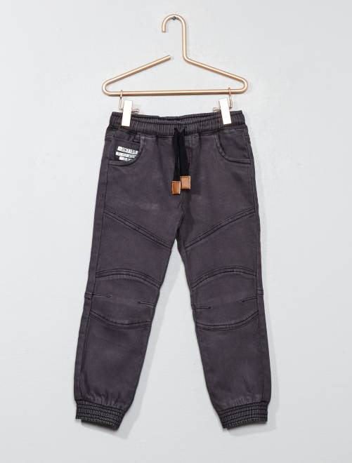 Pantalón con cintura elástica gris Chico