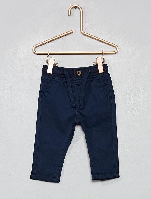 Pantalón con cordones ajustables                                                     azul