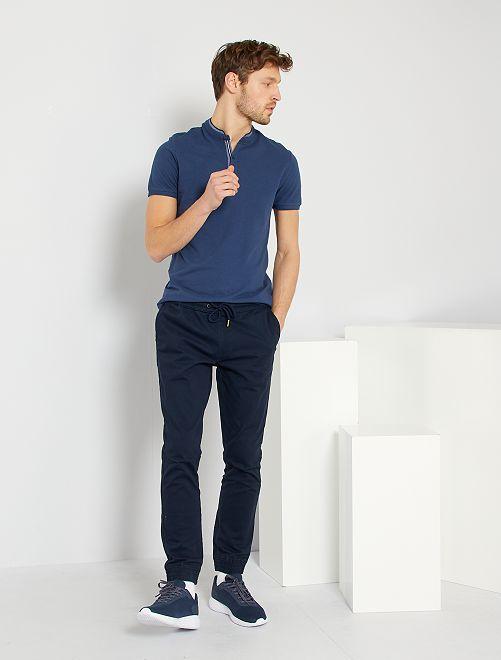 Pantalón con corte jogger                                                     AZUL