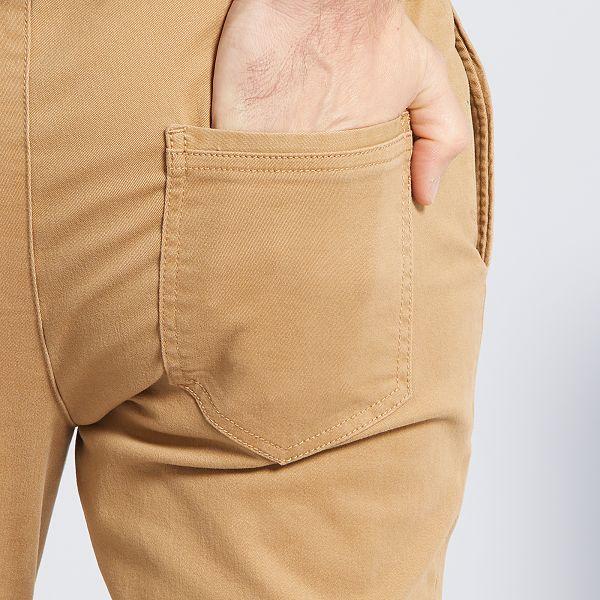 Pantalon Con Corte Jogger Hombre Talla S Xxl Beige Kiabi 20 00