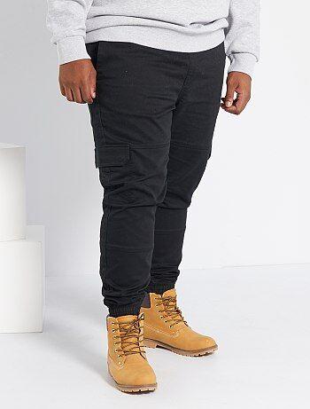 Pantalones Chandal Y Jogger Tallas Grandes Hombre Negro Kiabi