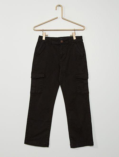 Pantalón con corte jogger para niño                             negro