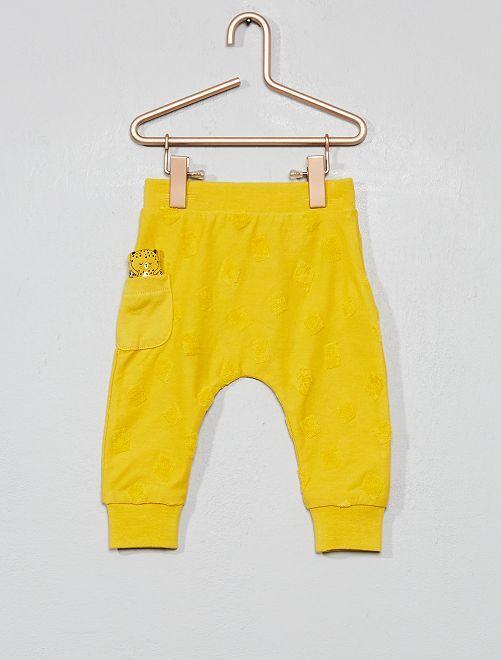 Pantalón con detalle geométrico                                                     AMARILLO Bebé niña