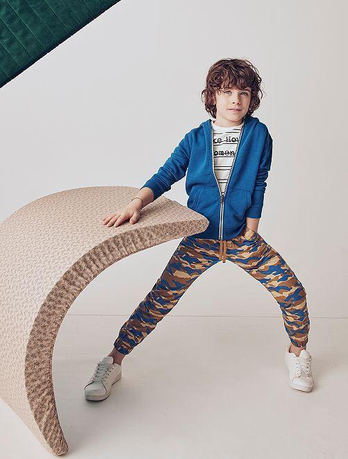 Pantalón con estampado de 'camuflaje'                                                     BEIGE