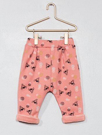 Pantalón con forro de felpa 'Bambi' - Kiabi