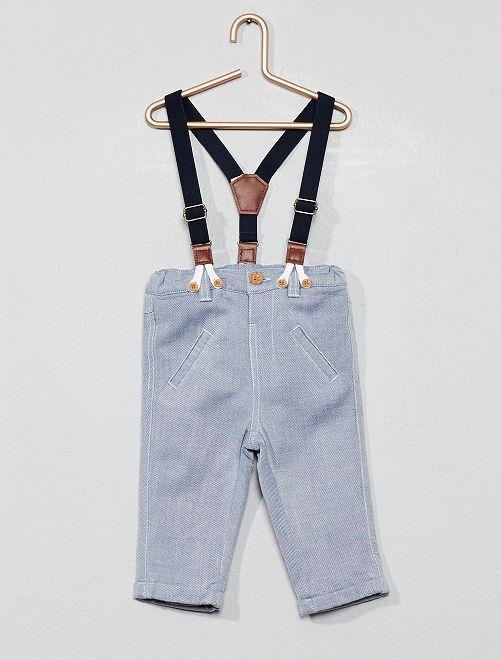 ec36e102e Pantalón con forro y tirantes Bebé niño - azul - Kiabi - 15