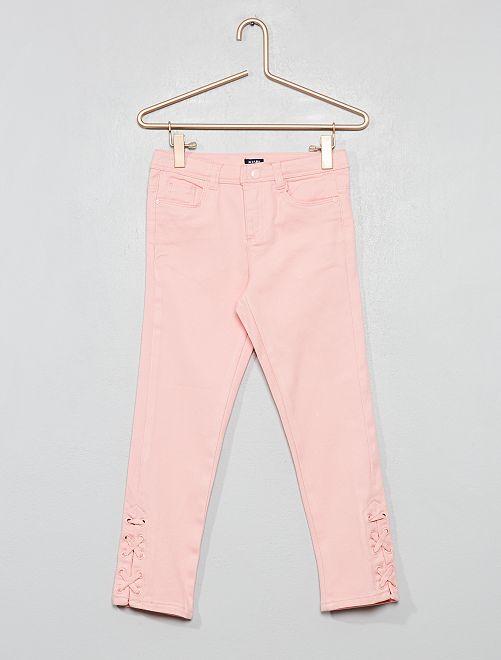 Pantalón con lazada                                                                 rosa polvo Chica