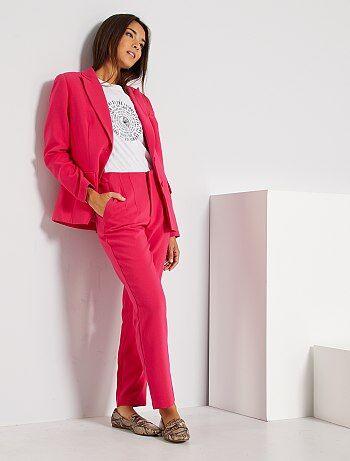 Pantalones Rectos Mujer Rosa Kiabi