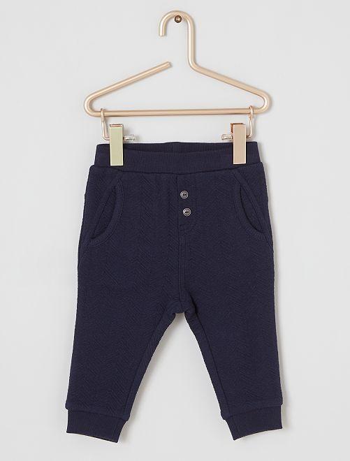 Pantalón con textura 'eco-concepción'                                         azul
