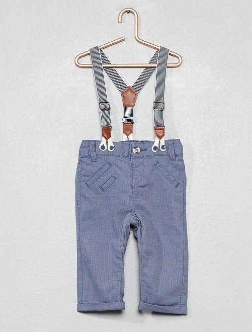 Pantalón con tirantes                             AZUL Bebé niño
