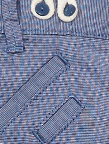 13ab2e2a5 ... Pantalón con tirantes vista 3. Pantalón con tirantes AZUL Bebé niño