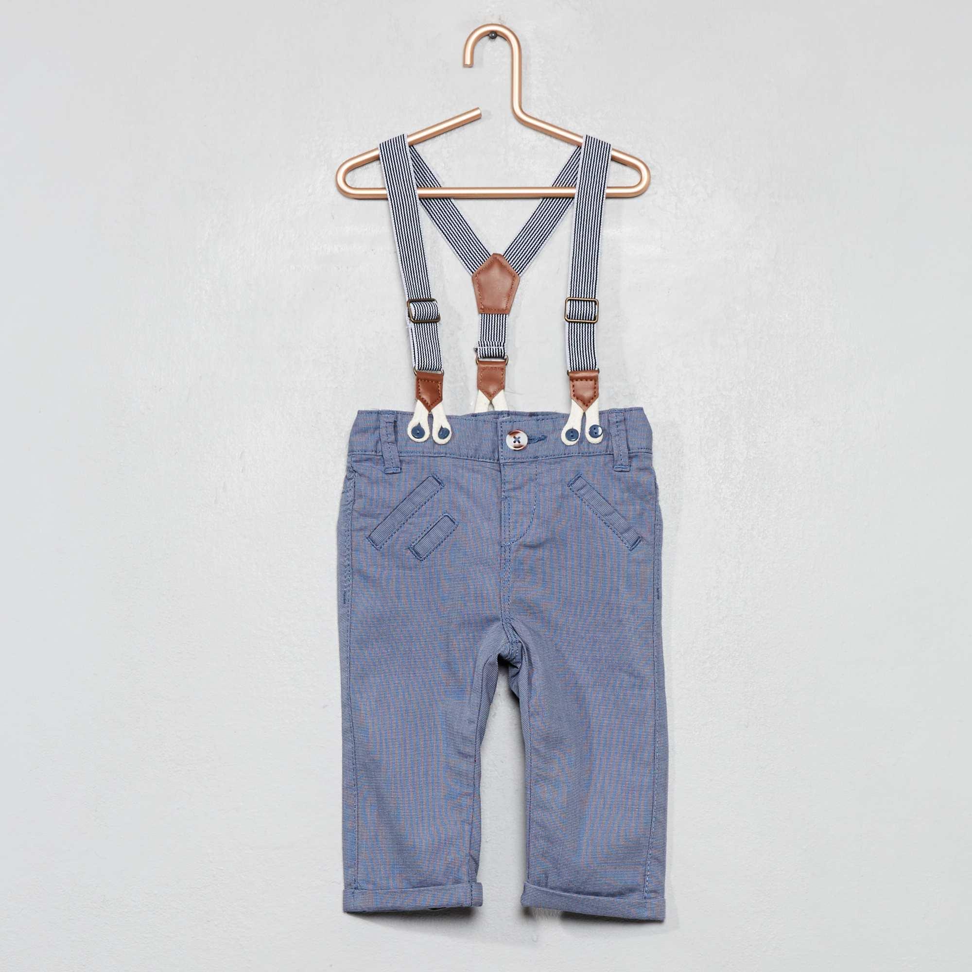 324f30ad1 Pantalón con tirantes Bebé niño - AZUL - Kiabi - 15