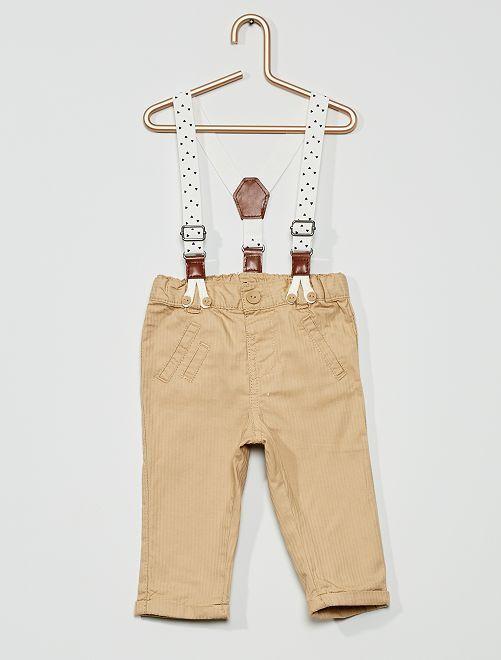 Pantalón con tirantes                                         BLANCO