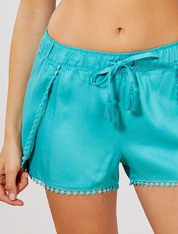 Pantalón corto con detalle de borlas - Kiabi f074f9081822