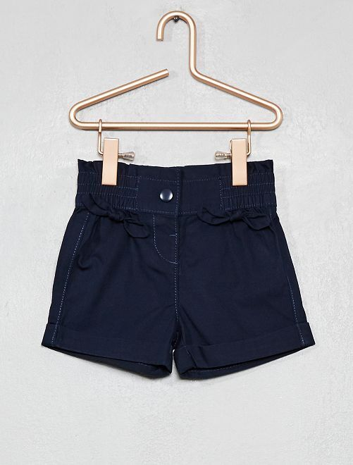 Pantalón corto con lazos                                 azul Bebé niña