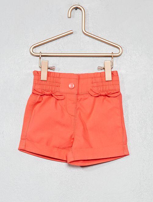 Pantalón corto con lazos                                                                             rosa coral Bebé niña