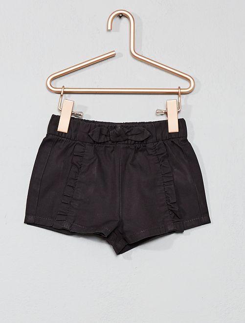 Pantalón corto con volantes                             gris oscuro Bebé niña