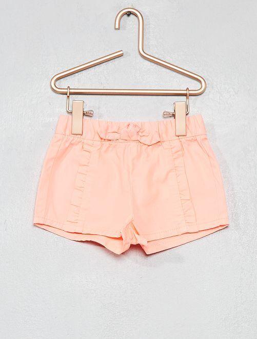 Pantalón corto con volantes                                                                 ROSA Bebé niña