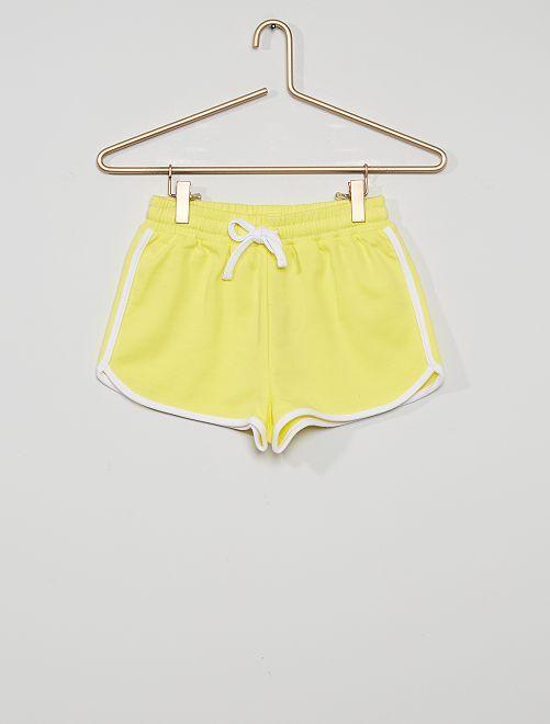 Pantalón corto de deporte eco-concepción                                                                             amarillo