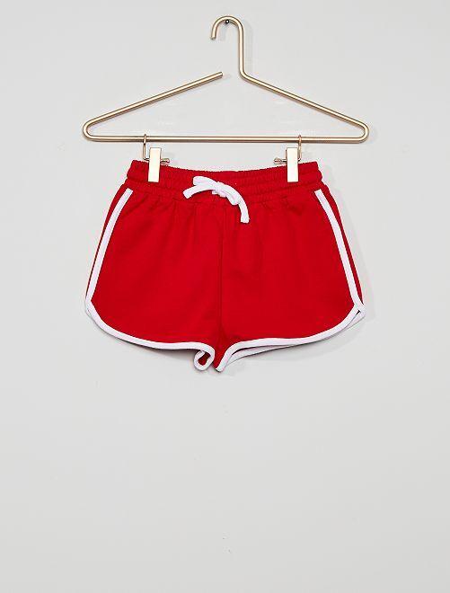 Pantalón corto de deporte eco-concepción                                                                             rojo