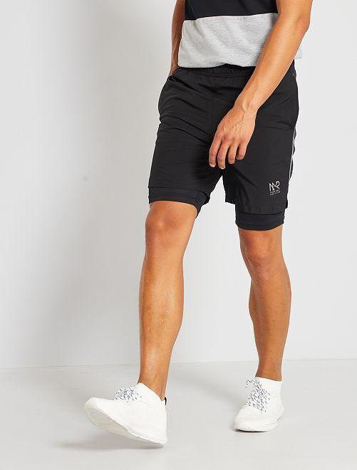 Pantalón corto de deporte                             negro