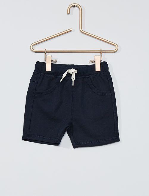 Pantalón corto de felpa                                         azul