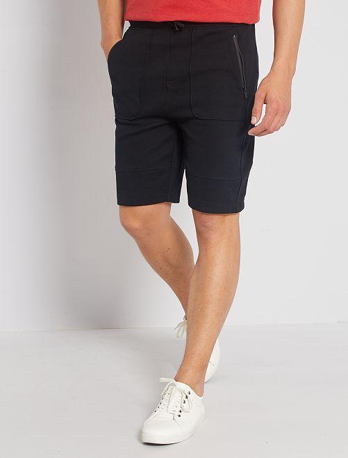 Pantalón corto de felpa deportivo                             negro