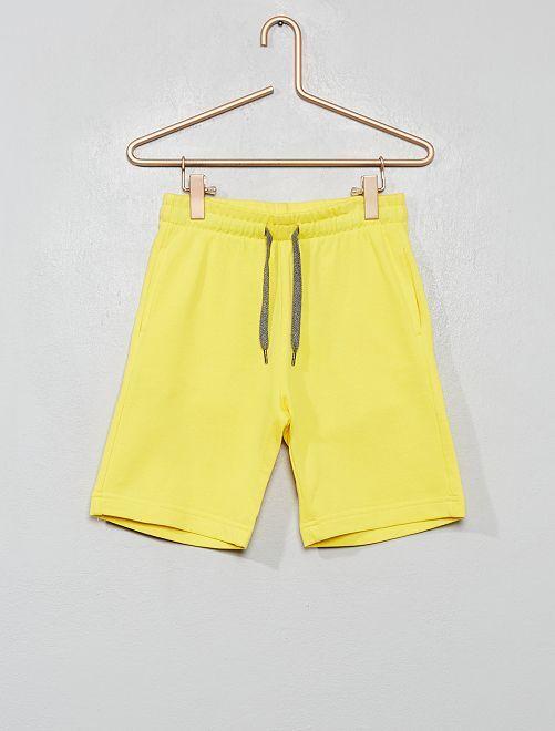 Pantalón corto de felpa ligera                                         AMARILLO