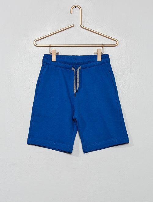 Pantalón corto de felpa ligera                                                                             azul
