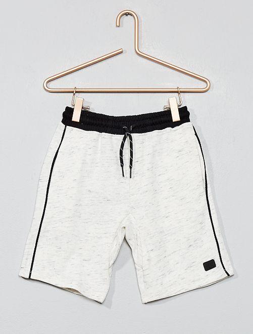 Pantalón corto de felpa ligera                                                     blanco Chico