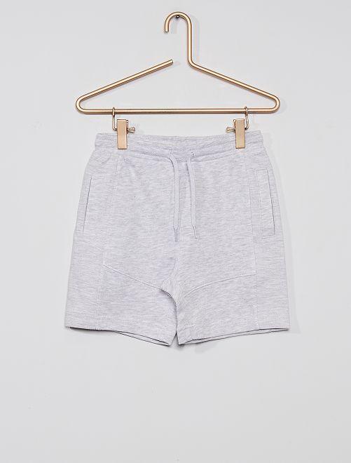 Pantalón corto de felpa ligera eco-concepción                                                                                         GRIS