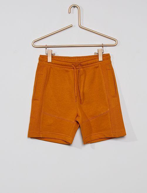 Pantalón corto de felpa ligera eco-concepción                                                                                         marrón