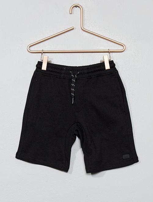 Pantalón corto de felpa ligera                                                     negro Chico