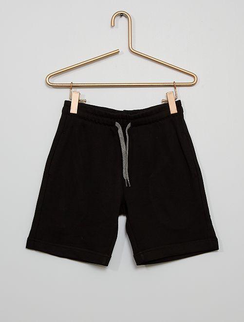 Pantalón corto de felpa ligera                                                     negro