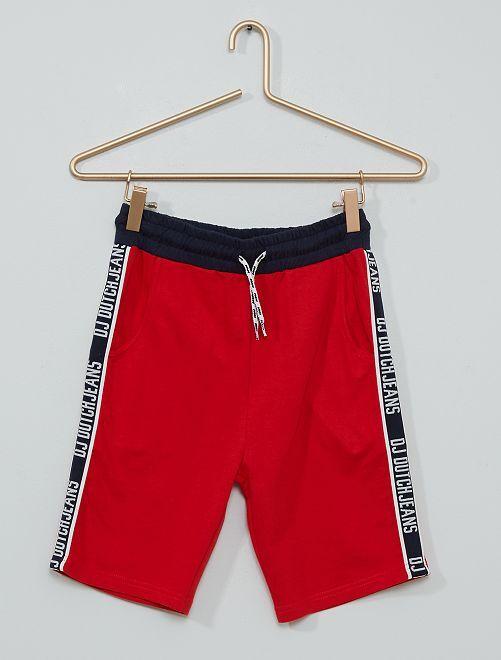 Pantalón corto de felpa ligera                             rojo