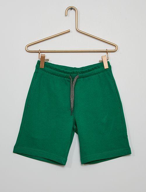 Pantalón corto de felpa ligera                                                     VERDE