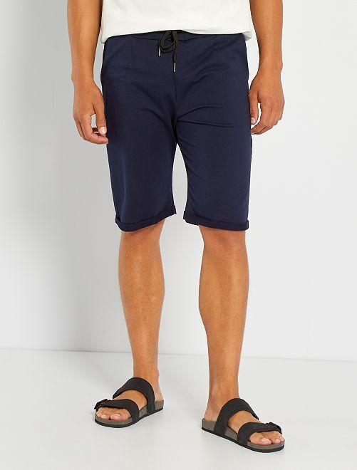 Pantalón corto de felpa ligero                                                                             azul