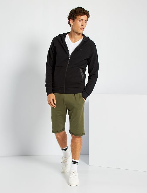 Pantalón corto de felpa ligero                                                                             KAKI