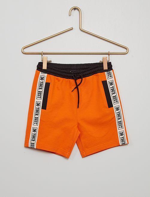 Pantalón corto de felpa                                                     NARANJA