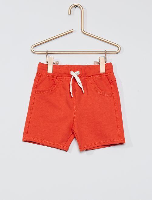 Pantalón corto de felpa                                         naranja páprika