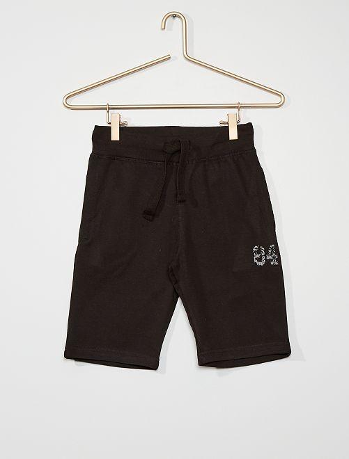 Pantalón corto de felpa                                                     negro