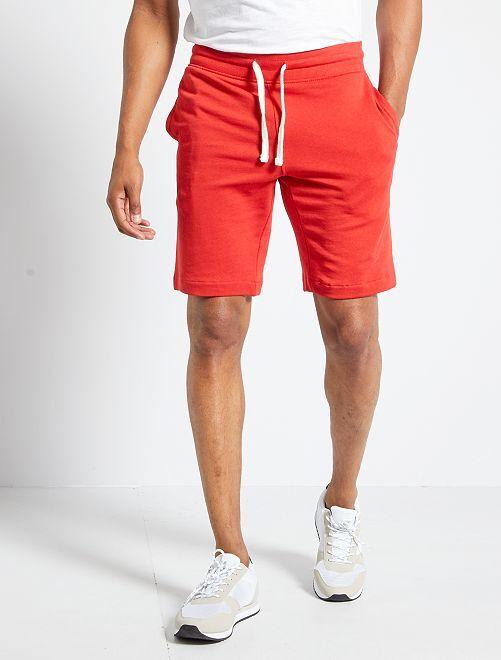 Pantalón corto de felpa                                                     ROJO