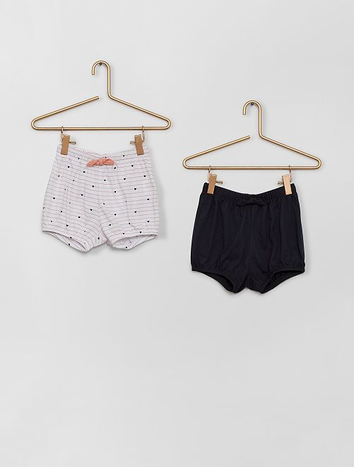 Pantalón corto de gasa de algodón                                                                 ROSA