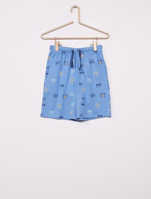 Pantalón corto de pijama                                         AZUL